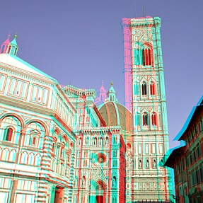 Florence Italy cha-cha  3D pics