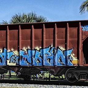 P900 rail car graffiti