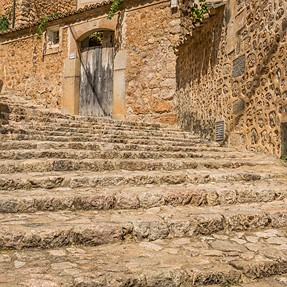 Stairs in a village