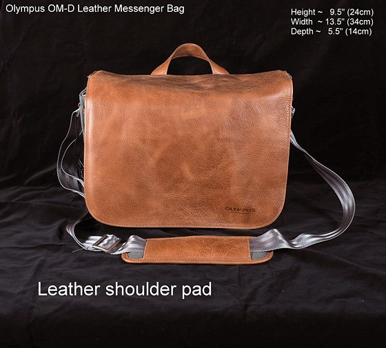 Olympus OM-D Leather Messenger Bag Review (lots of images)  Micro ... 9e86bf0852
