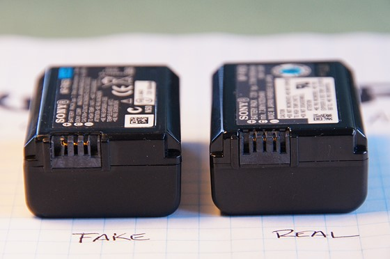 UPDATE on fake Sony NP-FW50 battery: Sony Alpha SLR/SLT A ...