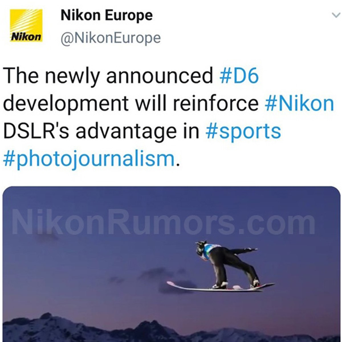 Nikon shares D6 development teasers on social media before