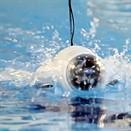 Aquatic drone splashes around while taking photos