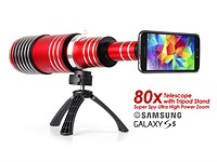 Telescope lens offers 80x magnification for smartphone cameras