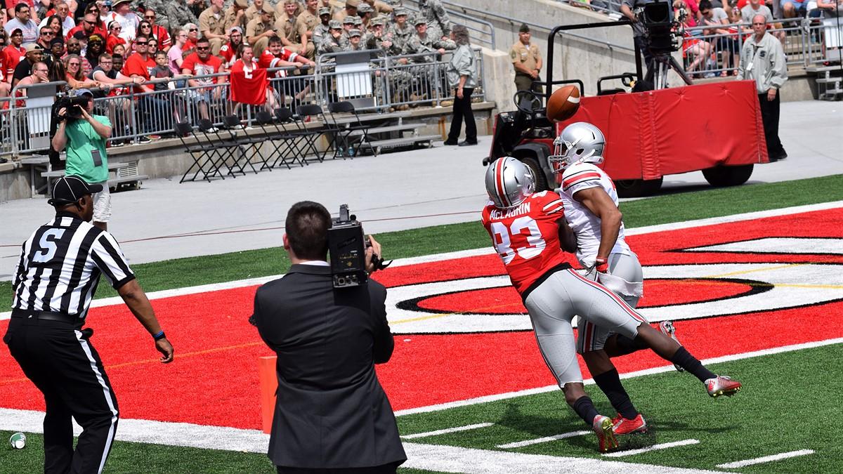 Cameraman injures OSU football player during pregame warm-up