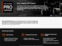 Sony launches support program for pro photographers
