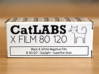 CatLABS introduces FILM 80, a new black and white film in 120 format, sheet film to follow