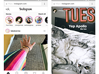 Instagram Stories arrive on desktop, will soon support mobile web uploads