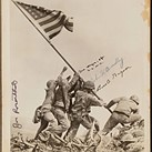 Rare 'Raising the Flag on Iwo Jima' print with four signatures goes up for auction