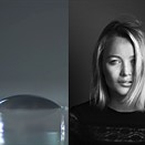 Professional portraits shot using a water drop for a lens