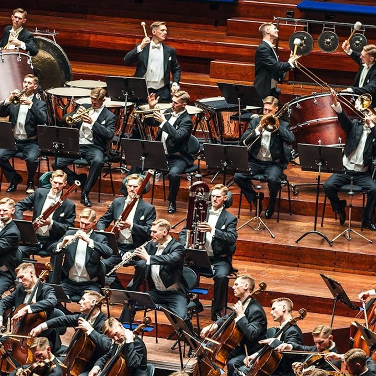 Photographer creates picture of 100-man orchestra… with the