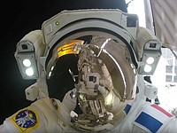Video: first person view of a spacewalk, shot by an action cam