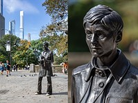 Photographer Diane Arbus honored with life-size bronze statue in Central Park