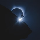 Totality: Watch the iconic 'climber eclipse' photos happen in real time