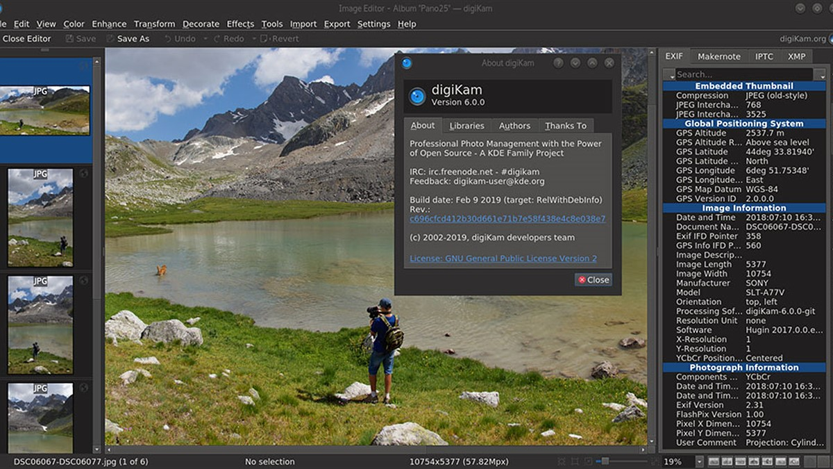 Open source image editing program digiKam now has video