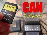 Video: Sony Tough SD cards torture tested with blender, washer, freezer and more