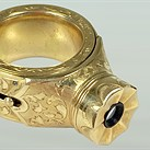 This rare 14 karat gold ring doubles as a spy camera