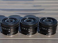 Sony announces compact 24mm, 40mm and 50mm full-frame primes