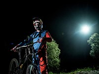 New Red Bull video shows downhill MTB ride, lit by drone