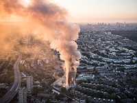 Surreal photo shows London high-rise fire from the air
