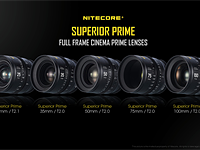 Nitecore leaps into the world of optics with 5 new full-frame cinema lenses