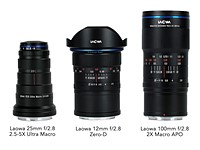 Venus Optics adds Canon RF, Nikon Z mount options to three of its most popular lenses