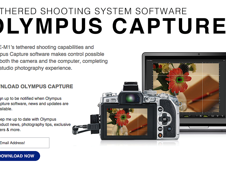 Olympus Capture software now available for E-M1 owners: Digital