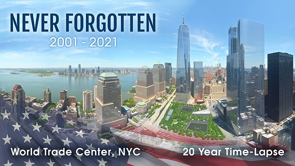 EarthCam shares 20-year 9/11 Anniversary timelapse video, 'Never Forgotten'