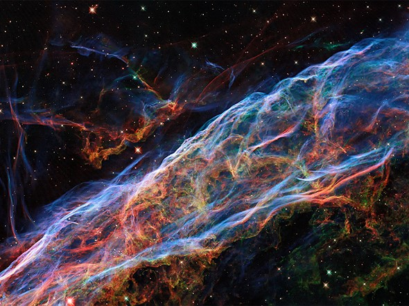 Hubble scientists revisit an incredible image of Veil Nebula, showing off new details