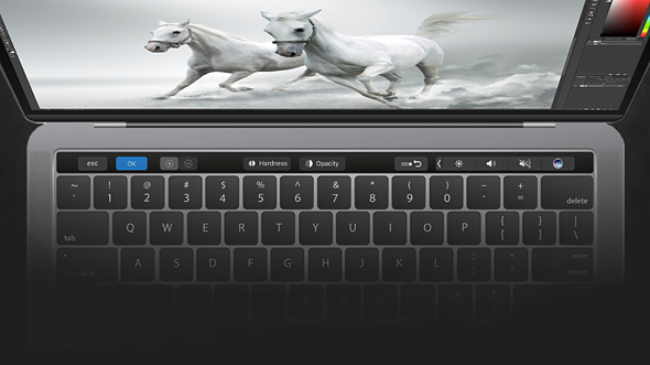 Adobe Photoshop CC gains new MacBook Pro Touch Bar support 1