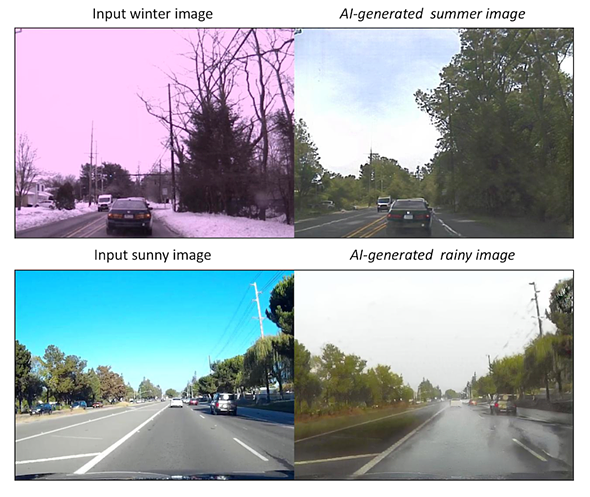 Researchers demo AI that can change the weather and time of day in photos