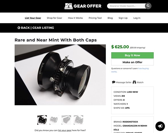 Gear Offer is an online marketplace for buying and selling used