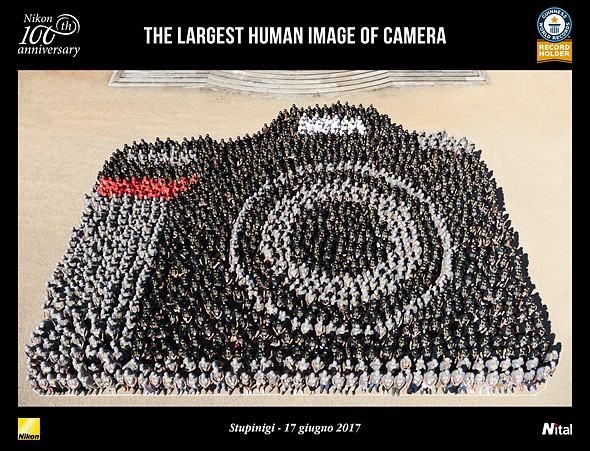 Italian Nikon distributor sets world record for largest human camera