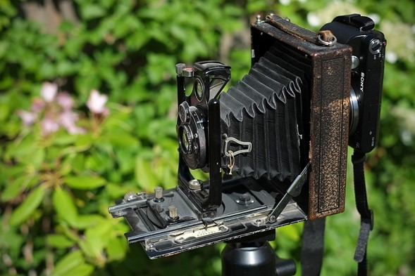 Using a Sony NEX as a 'digital back' on an antique camera