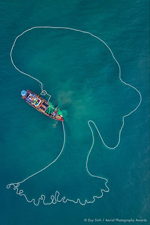 Aerial Photographer of the Year 2020, 1st Place, Daily Life: 'The Lady of the Sea' by Duy Sinh (Vietnam)