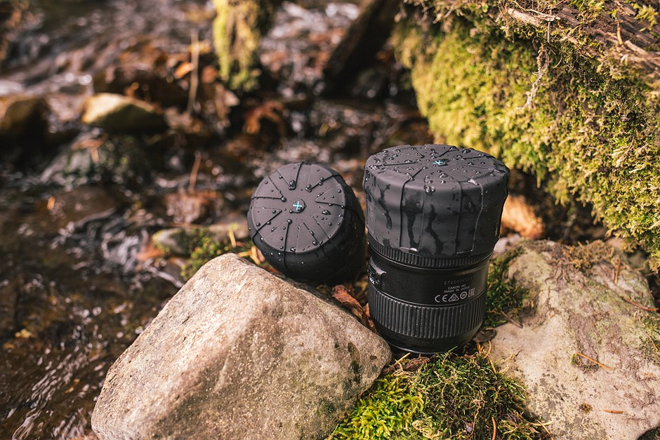 KUVRD Universal Lens Cap protects any lens from dust and water