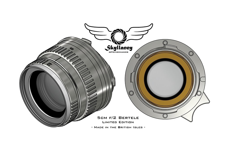 Skyllaney unveils its forthcoming 50mm F2 'Bertele' Sonnar lens for Leica M-mount cameras
