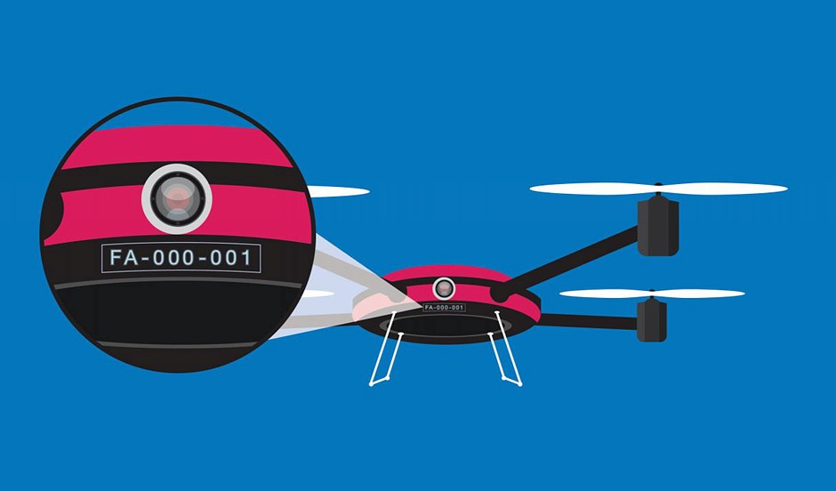 Drone owners in the US will soon need external registration numbers on their UAVs