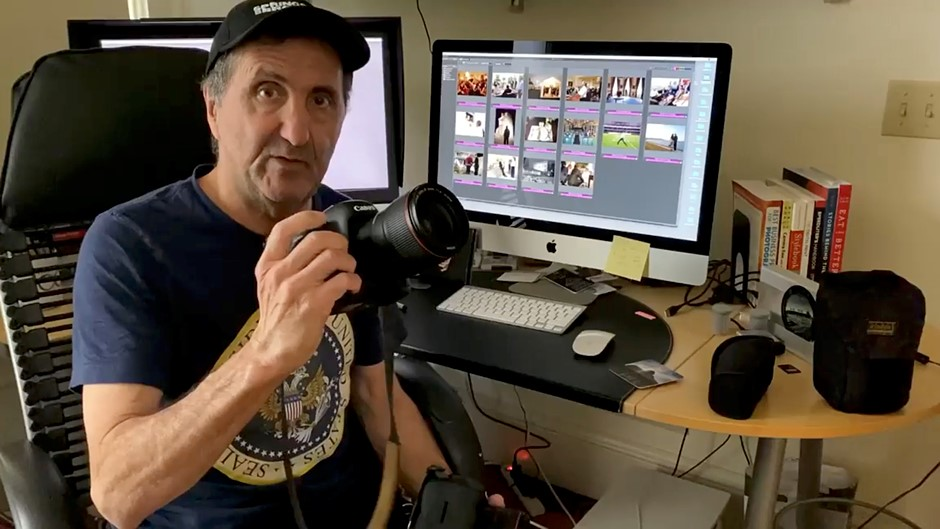 White House photographer Pete Souza shows off what gear is in his bag