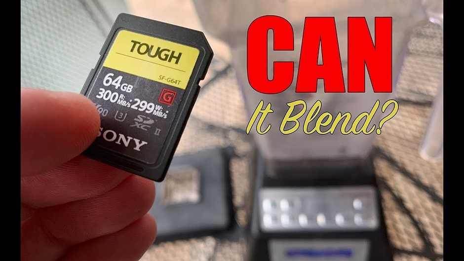 Video: Sony Tough SD cards torture tested with blender, washer