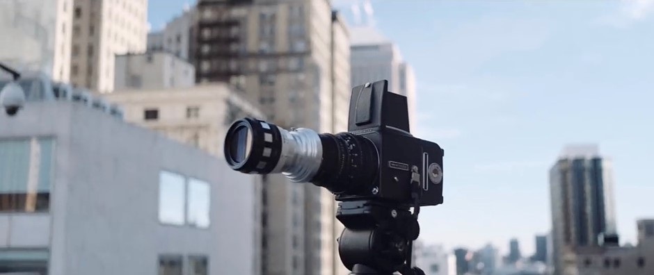 DIY Hasselblad XPan camera combines Hasselblad 500cm and anamorphic lens