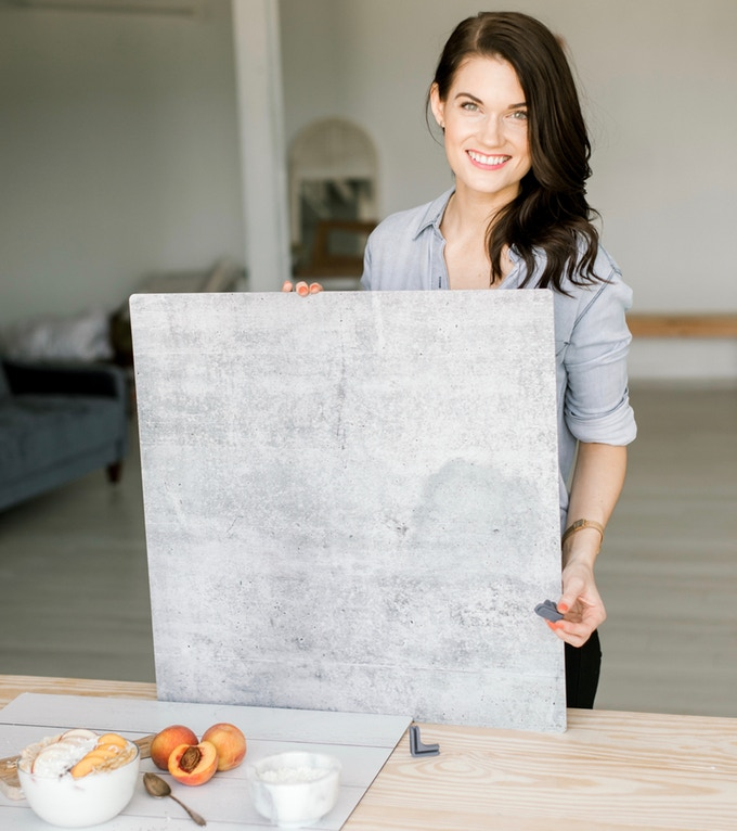 Replica Surfaces are rigid, lightweight photo backdrops that imitate popular surfaces