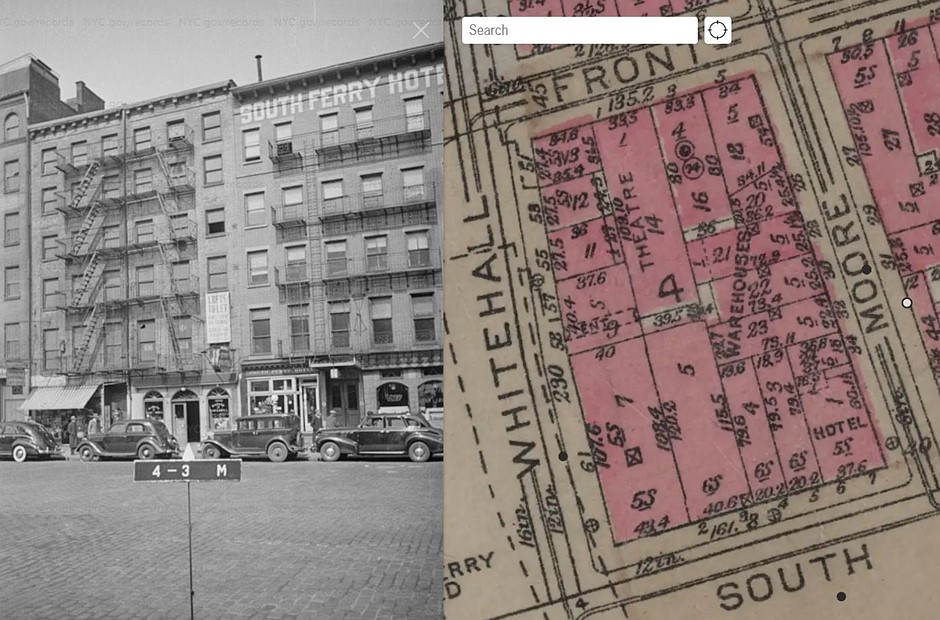 New York City map makes it easy to find historical images of NYC from 1939 to 1941