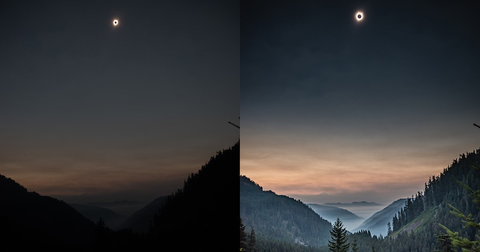 This eclipse photo shows the crazy dynamic range of today's image sensors