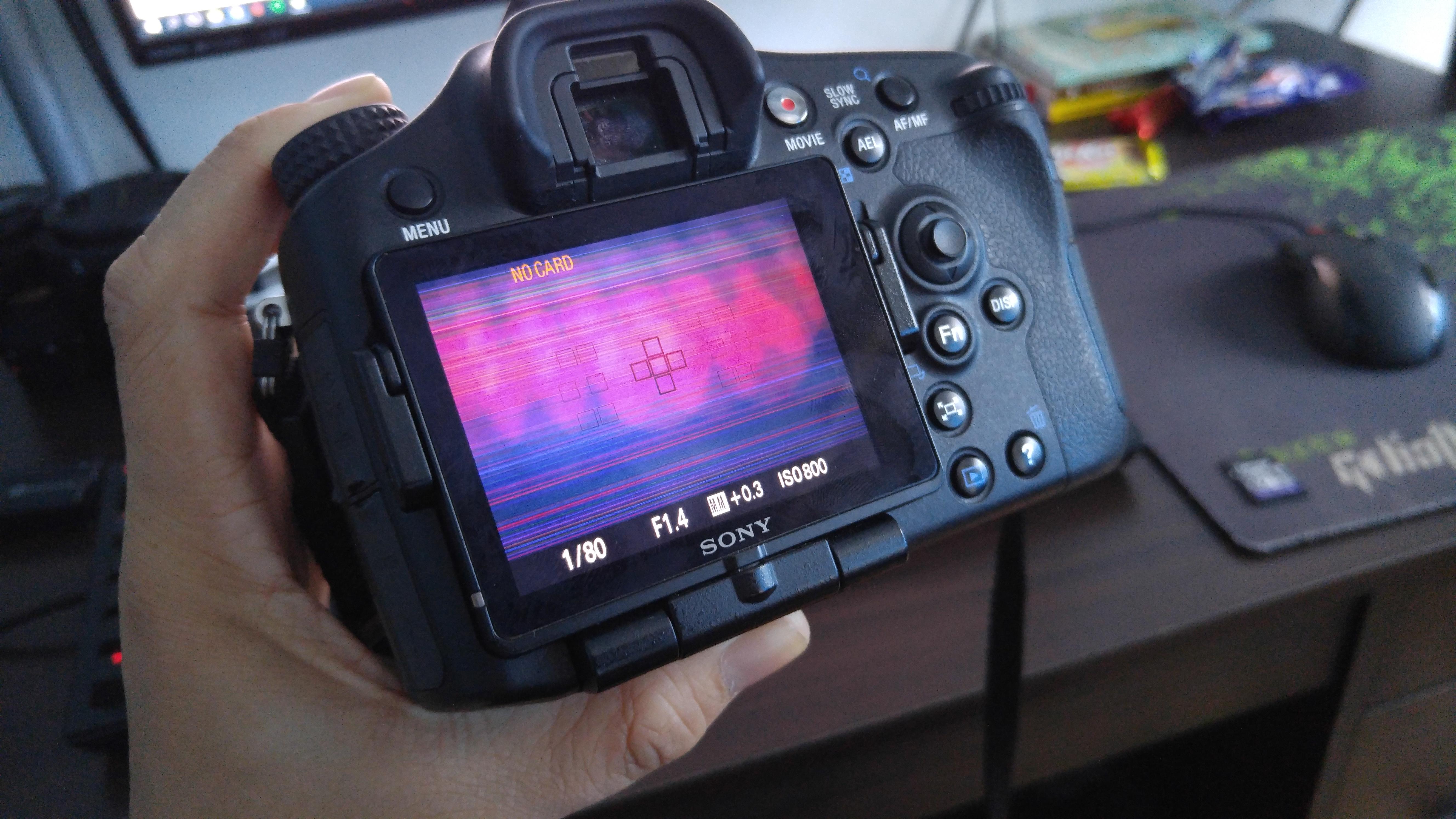 Sony A77 flickering lines on LCD & Error: Sony Alpha SLR/SLT