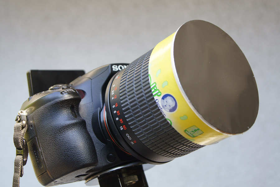 how to make a $10 solar filter for your 70-400mm g: sony alpha slr ...