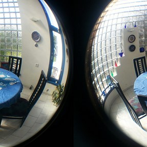 3D with Samsung S3 and fish-eye lens