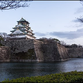 First 3D attempt - Osaka Castle (cha-cha using Oly E-M5)