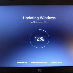 What to do when W10 update captures the PC ?