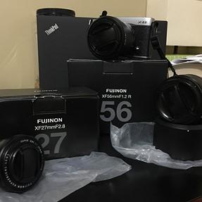 Fuji X-E2 body, XF 18-55mm and XF 27mm - $600